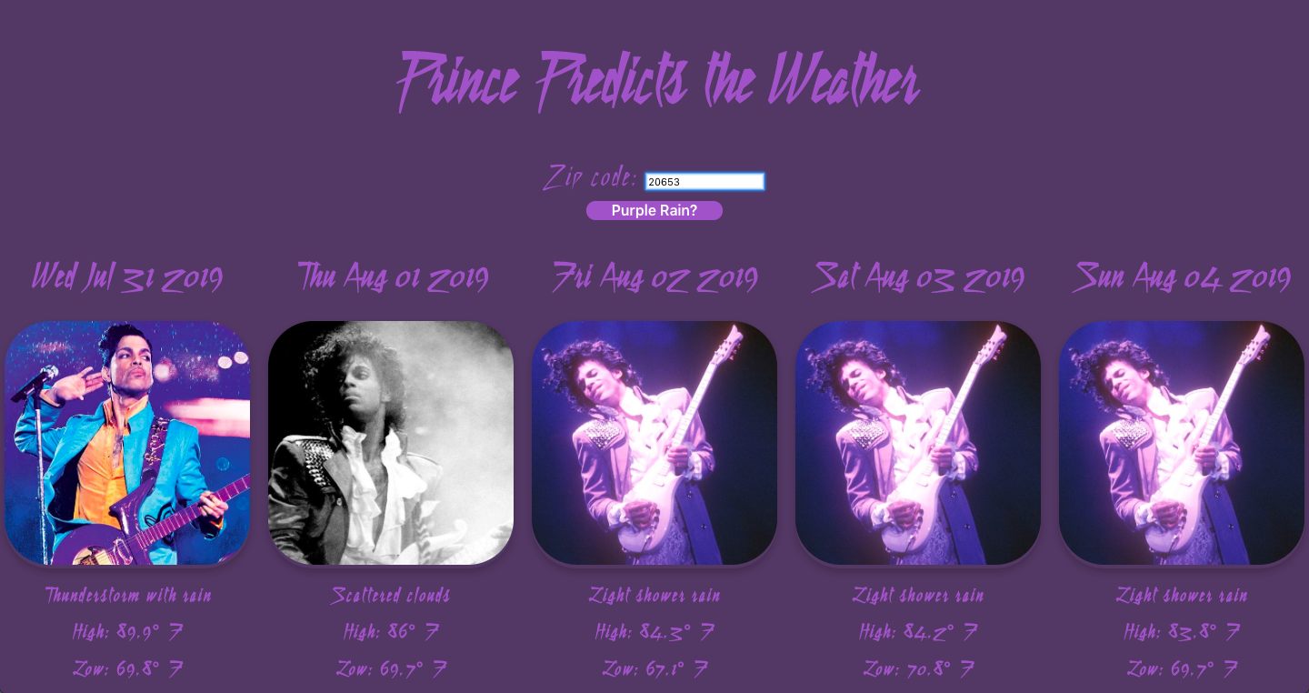 Prince Predicts the Weather